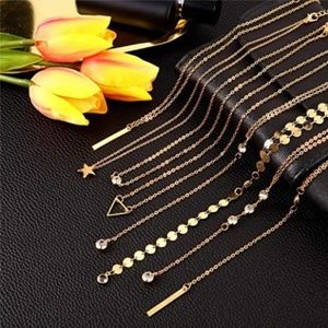 16 Pieces Layered Choker Necklace Set